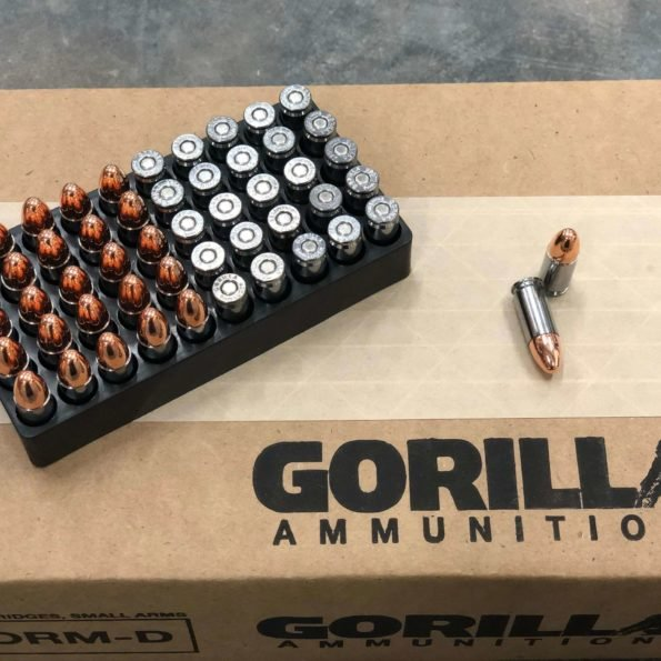 Gorilla Training, 9mm 124gr Pistol Ammunition – 50 Round Box