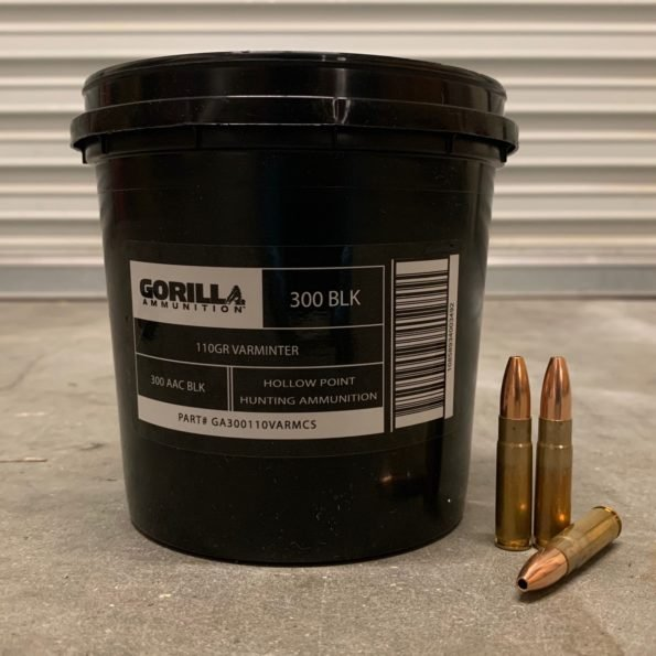 Gorilla Ammunition 300 Blackout 110gr Varminter Hollow Point – 175 Round Bucket